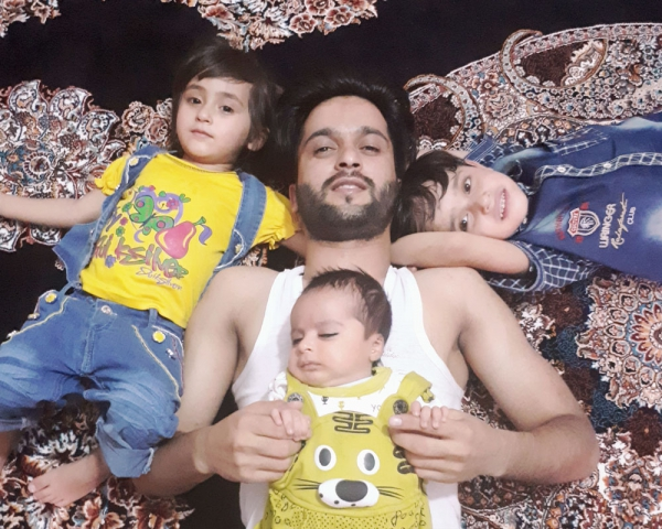 From left (Abeer, I, Sohaib and Shais)